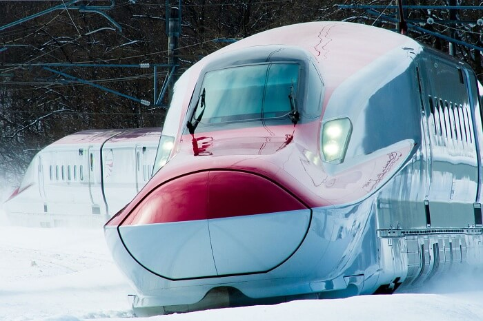 Another representative of the proposed high speed bullet train in India
