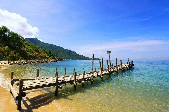 A beach at the Cham Island that is one of the places to see and visit in Vietnam