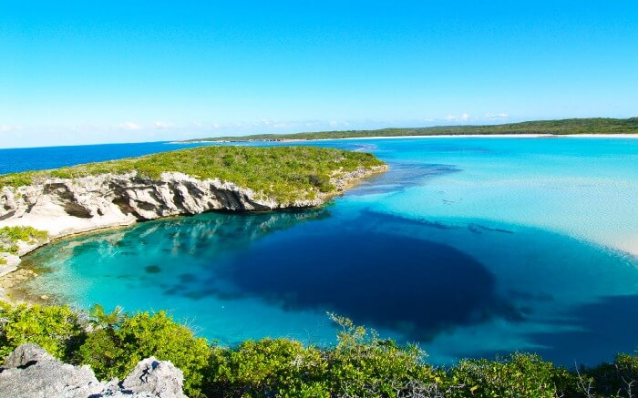 Dean's Blue Hole is over 203 meters deep and is filled with tarpons, friendly turtles, snappers and much more.