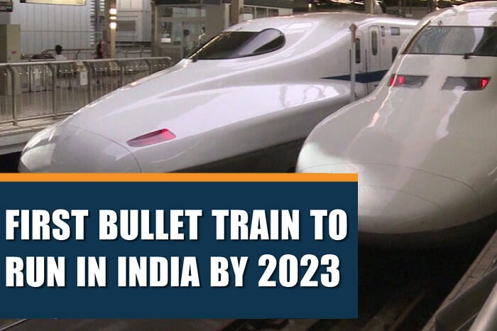 A news clipping claiming that the first bullet train in India will be operational by 2023