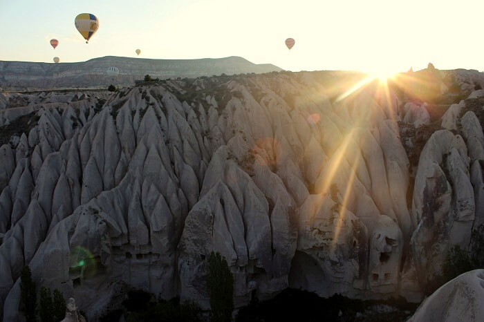 View of the sunrise from Hot air balloon ride