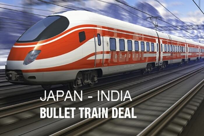 The bullet train project in India is being funded by Japan