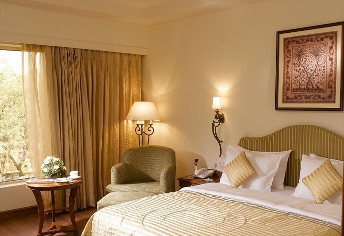 One of the luxury rooms at the Park Plaza in Jodhpur