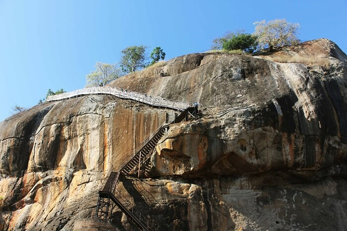 Famous Sigiriya rock in Sri Lanka