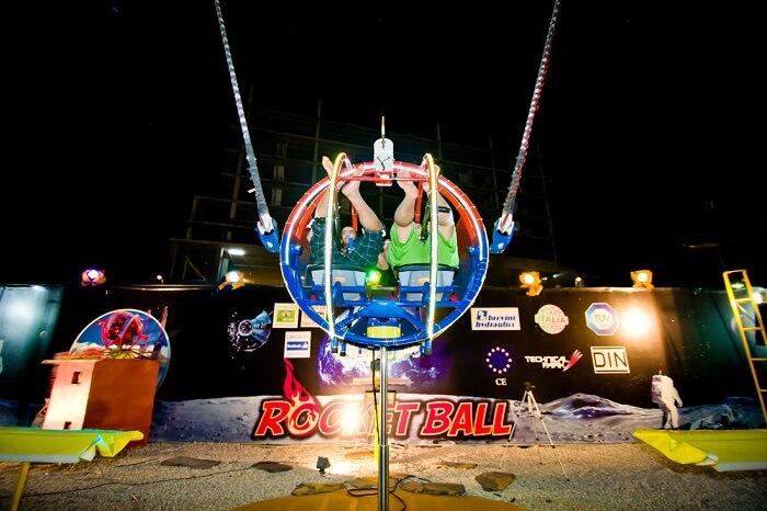 The SKY Rocket Ball ride in Pattaya