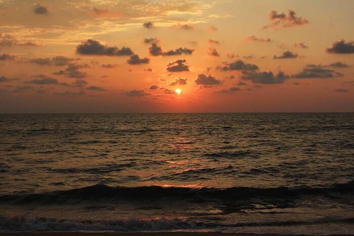 Amazing sunset in Sri Lanka