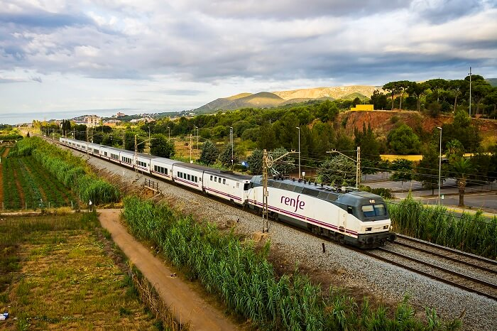 A snap of the Talgo train running in Spain