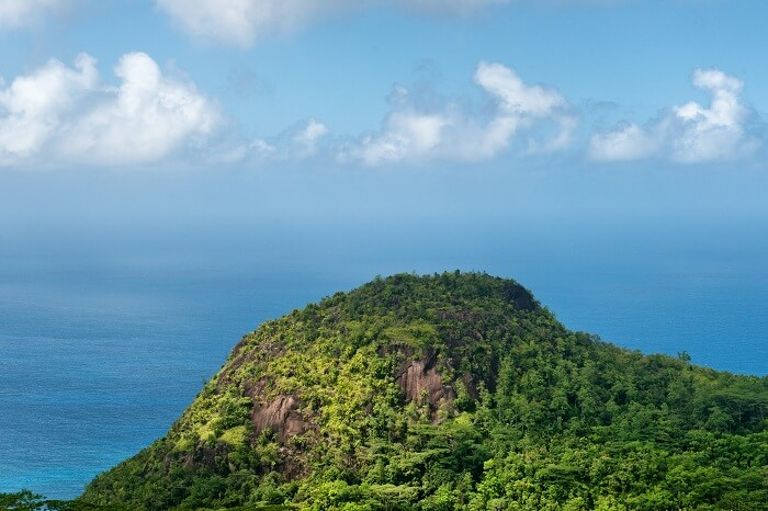 A beautiful view of the Mahe island from the Mission Lodge Lookout point