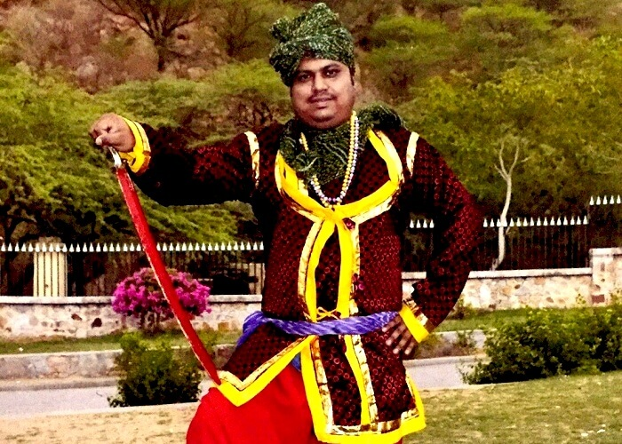 Sangram with his royal costume