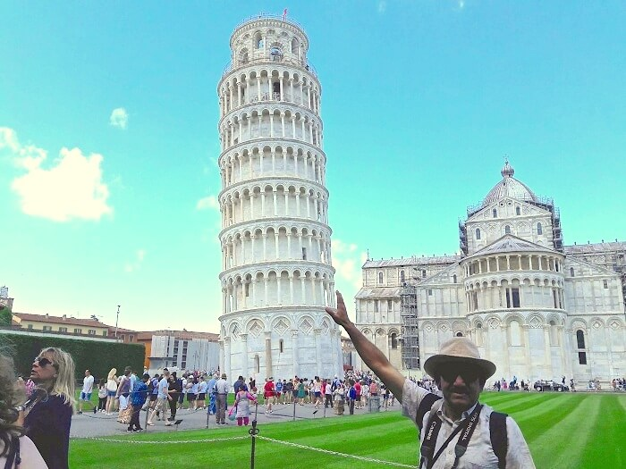 Visiting the Leaning Tower in Pisa