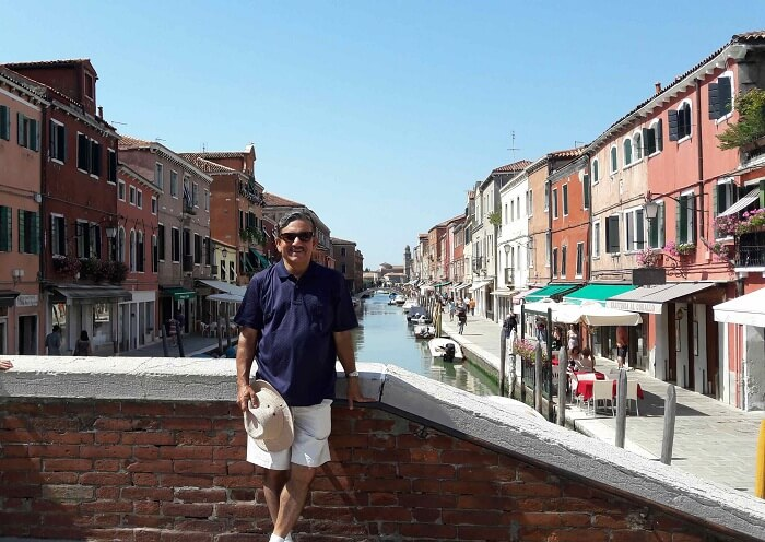 Mr. Abhishek near Venice Grand Canal