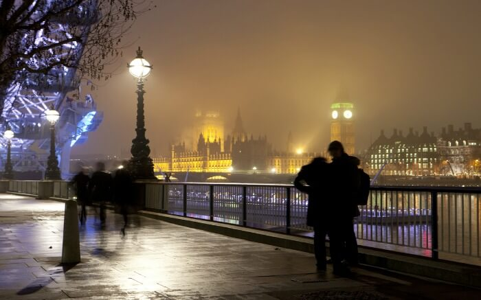 A lovely winter night in London