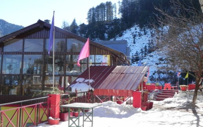 The Apple Orchard Resort has 15 rooms with views of the Himalayas