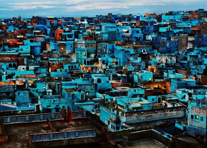 Explore the mystical blue houses