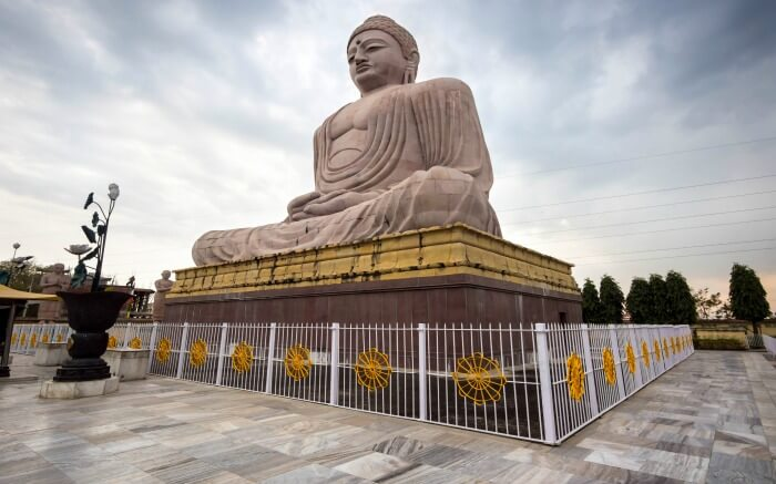 Buddha statue in Bodhgaya Bihar the best holiday destinations in November