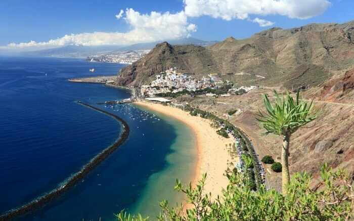 Aerial view of Canary Islands
