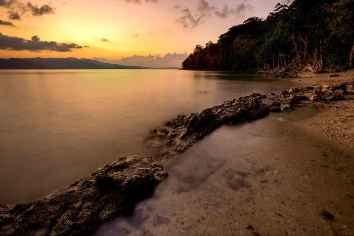 Beautiful sunset at Chidiya Tapu