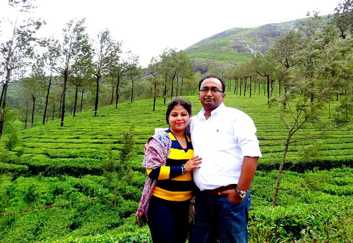 Suvankar and his wife in Kerala
