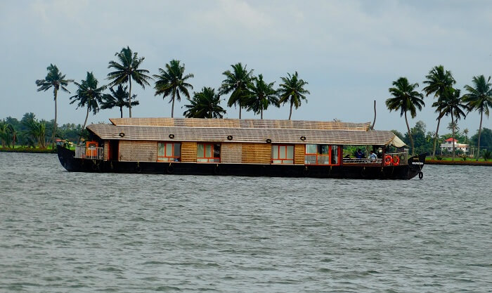 Majestic houseboat in Kerala