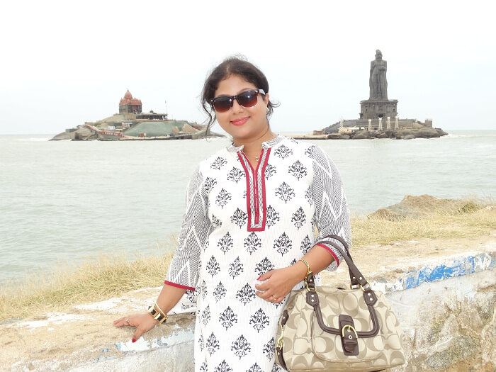 Suvankars wife in Kanyakumari