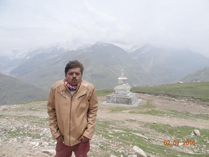 Satish enjoying the cold weather