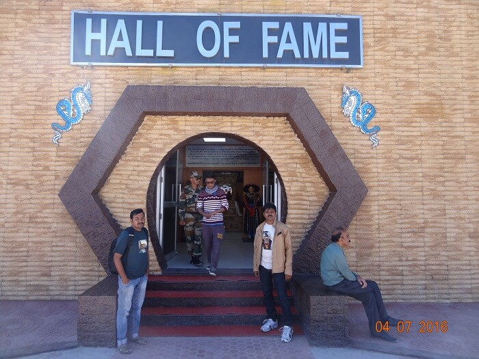 Visiting the army museum in Leh