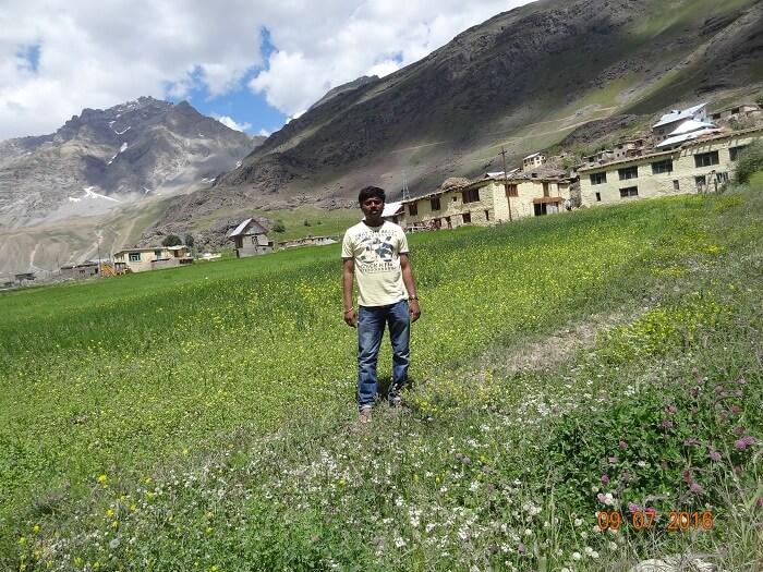 Satish near Dzozola Pass