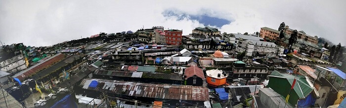 Panoramic view of Darjeeling