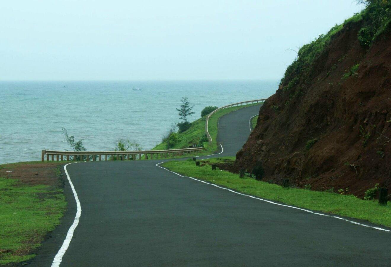 Road in Ganpatipule Maharashtra