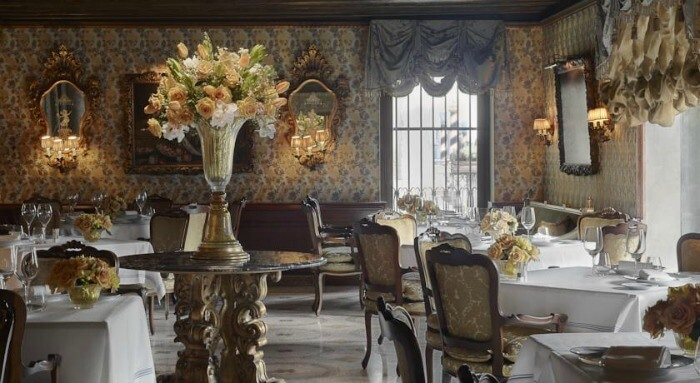 Charming interiors of the Gritti Palace hotel
