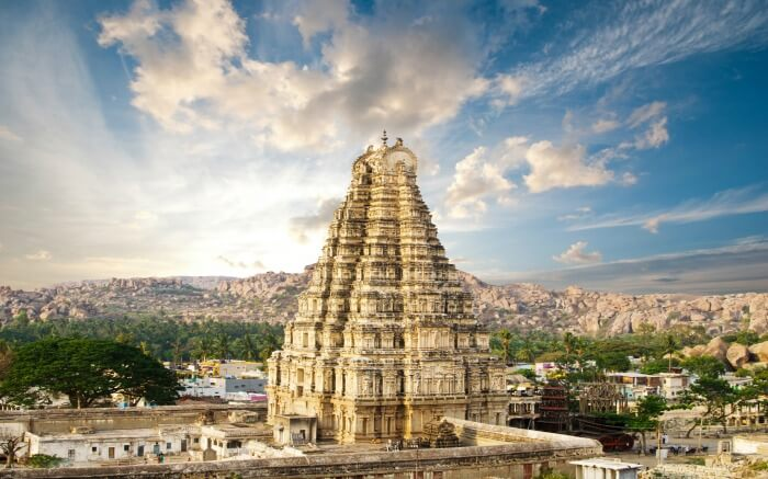 Virupaksha Temple in Hampi Karnataka is where you should spend your holidays in November