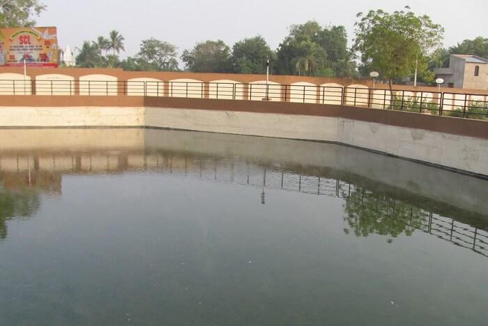 Hot water pool created at Bakreswar