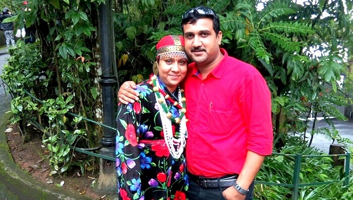 Pankaj and his wife in Darjeeling