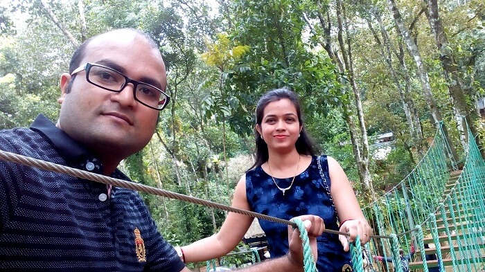 Having fun in adventurous Thekkady