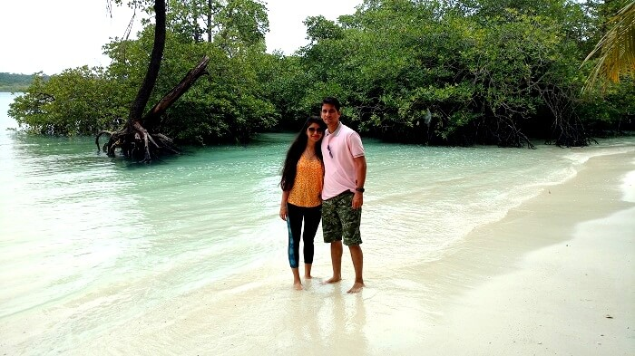 Serene beauty of the white sand beaches in Andaman