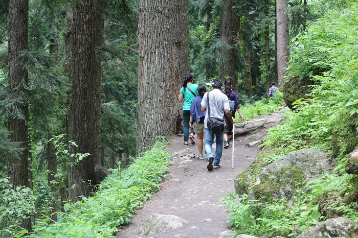 Enjoying the trekking activity