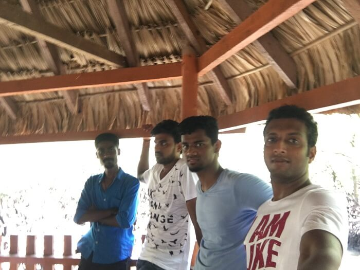 Jay and his friends in Port Blair