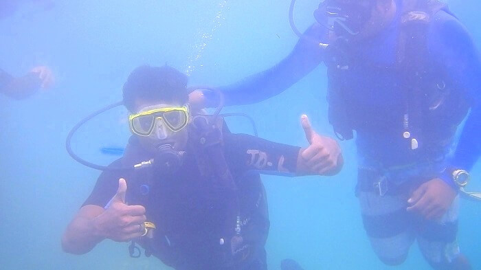 Jay and his friends do Scuba Diving in Andaman