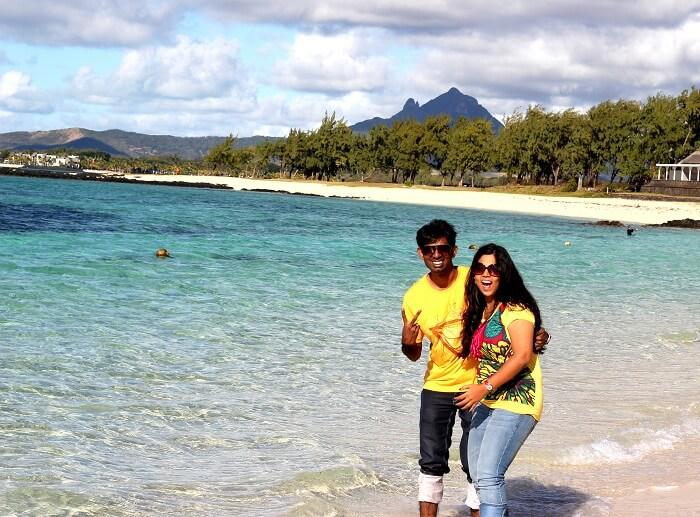 Pristine beach in Mauritius
