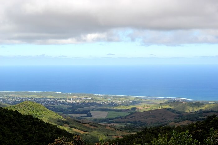 Stunning bird's eye view in Mauritius