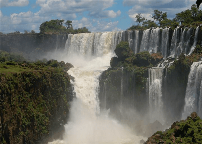 Extensively expanded waterfall in Brazil