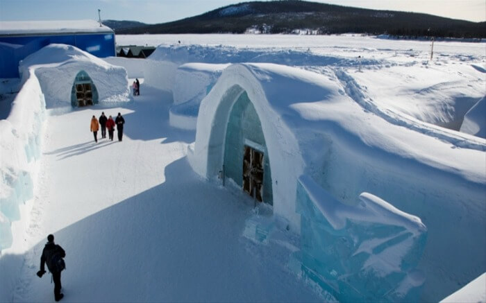 Ice Hotel in Jukkasjärvi is surely an unmissable honeymoon destination in Europe in winter