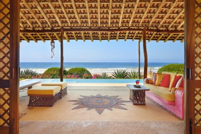 Beautiful views of the sea from the Las Alamandas resort