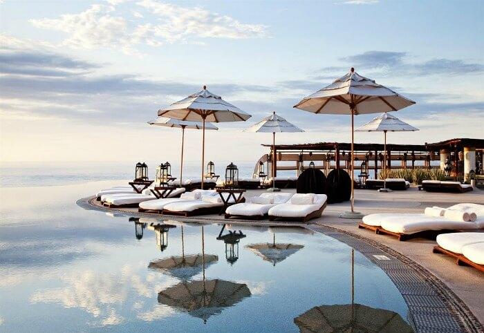 Seaside lounge at Las Ventanas al Paraiso, A Rosewood Resort
