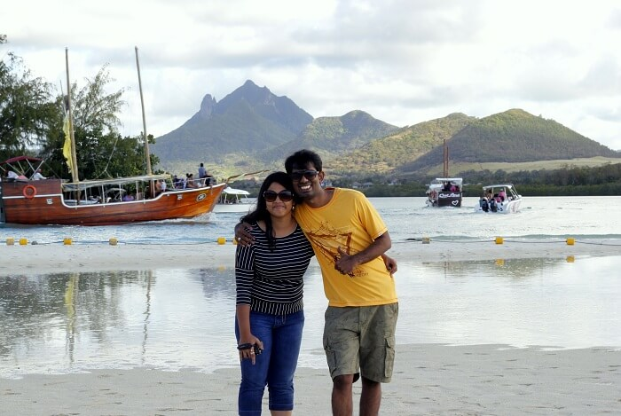 Zenith and his wife in Mauritius
