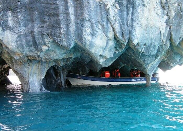 Sleek and polished marble caverns