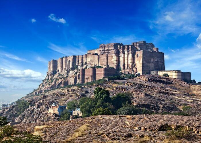 Mesmerizing view of the Mehrangarh fort in Jodhpur