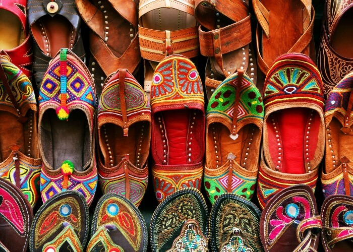 have a look at eye catching footwear in the Mochi Bazar