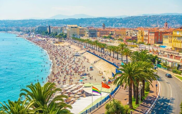 Waterfront of Nice France