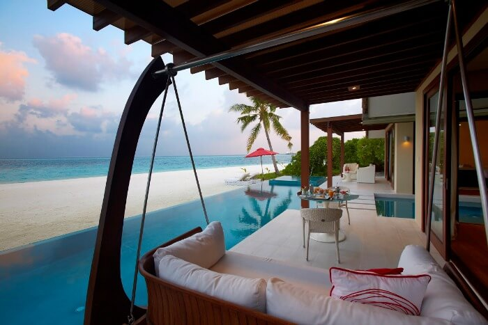 A relaxing lounge by the sea at Niyama